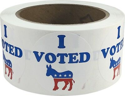 I Voted Democrat Stickers