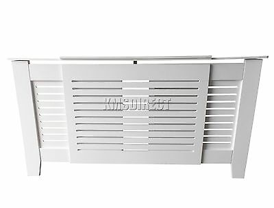 Adjustable White Wooden Radiator Cover Wall Cabinet Wood MDF Traditional Modern
