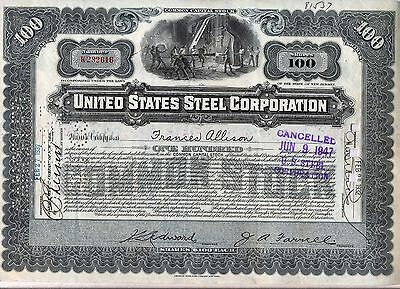 United States Steel Corporation Stock Certificate US Grey