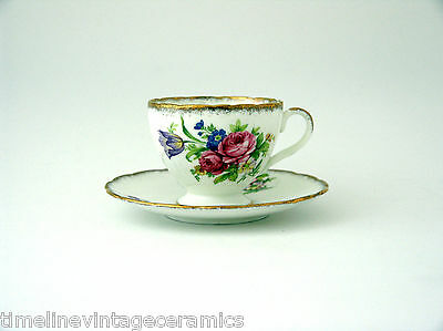 Dainty and Delightful Foley Tulip Fine China Teacup and Saucer  E Brain & Co