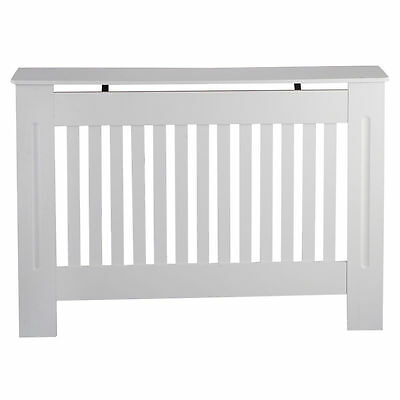 Large Wood Radiator Cover White Painted Wall Cabinet MDF Heating Covers Shelf