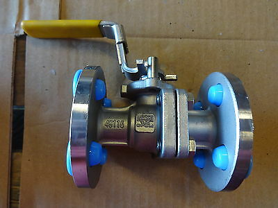 Sharpe 1/2 Inch Class 150 Flanged 316 Stainless Steel Ball Valve - New