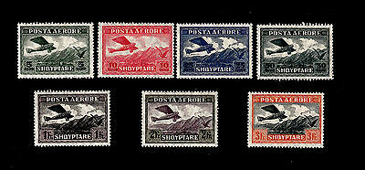 Albania - 1925 - SC C1-C7 - H - Complete Set - Airplane Crossing Mountains