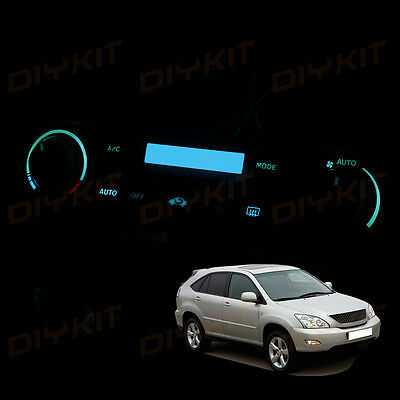 Ice Blue AC Climate Control Heater Temperature Bulbs LED Lights for RX350 07-09