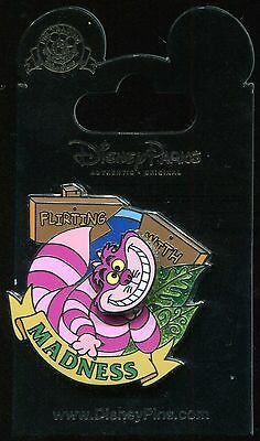 Alice in Wonderland Cheshire Flirting with Madness Spinner Disney Pin 115574
