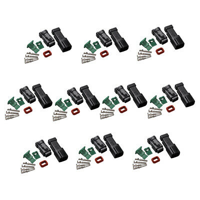 10 Set Deutsch DT 2-Pin Connectors Kits 18-16 GA Contact Adapters Male & Female