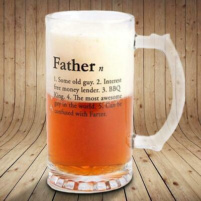 Fathers Stein Beer Glass | mug cup dadalcohol glassware barware