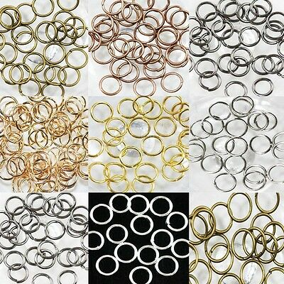 50-500 Split Jump Ring Open Connector Jewelry Making Craft 4/5/6/8/10/12/14/20mm