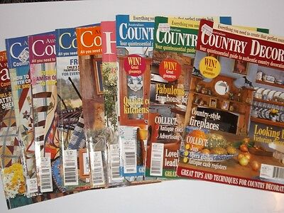 COUNTRY THREADS AND COUNTRY DECORATOR  MAGAZINES set of 9