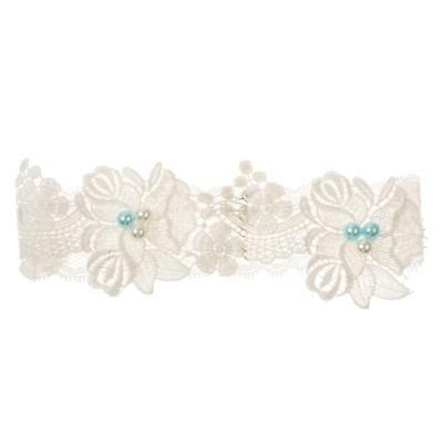 Stretchable Floral Flower Lace Pearls Bridal Wedding Garter Hen Night Party