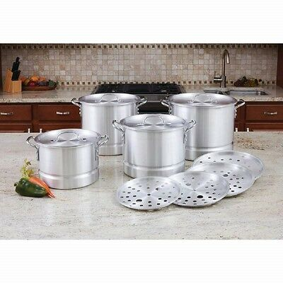 Stock Pot Steamer 12 PC Set Aluminum Cookware Restaurant Catering  Kitchen Equip