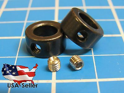 Lock Collar for 8mm Shaft with M4 (4mm) Set Screw (1/2/3/4 packs)