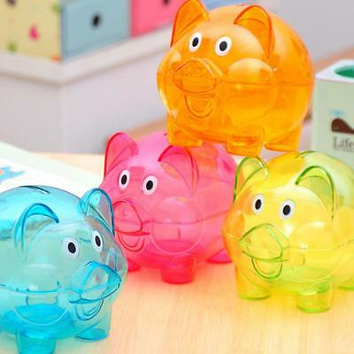Plastic Piggy Bank Coin Money Cash Collectible Saving Box Pig Toy Kids Gift FS!
