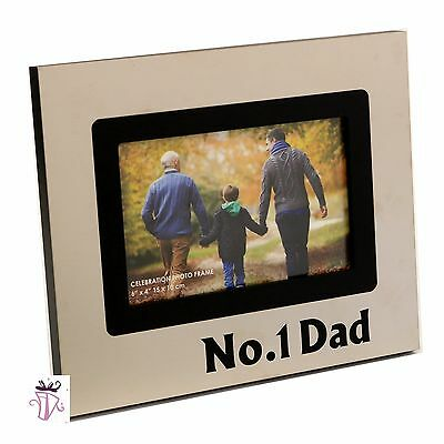 No1 Dad Pewter 4 x 6in (10x15cm) Photo Frame Father's day Birthday gift idea