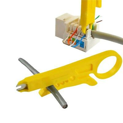 2PCS Yellow Network Lan Wire Cable Punch Down Cutter Stripper UTP for RJ45 Cat5