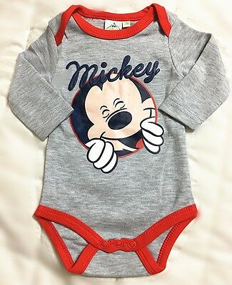 New Toddler Baby Romper One-Pieces Playsuit Outfits Clothing Disney Mickey grey