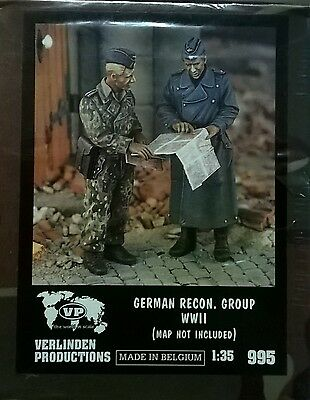Verlinden 1:35 German Recon. Group Wwii (Map Not Included) Ricognizione Art 995