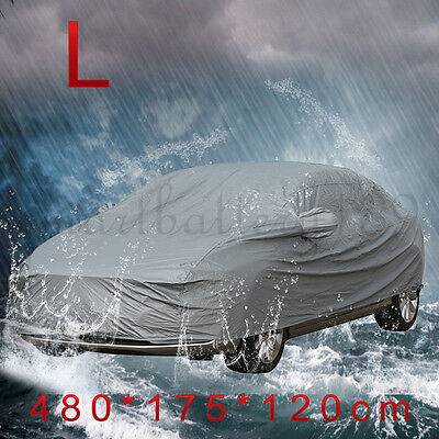 Double thicken Waterproof Car Cover Rain Resistant UV protect Car Cover size L