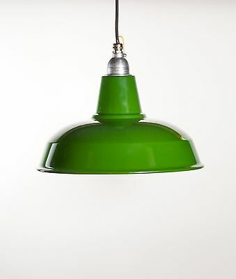 BURLEY - Factory Enamel Ceiling Pendant Light - Vintage Industrial