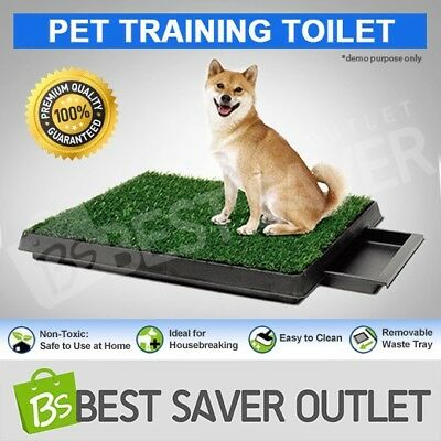 Large New Portable Indoor Training Grass Potty Pad Loo Tray Pet Dog Toilet Mat