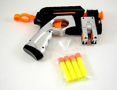 Orange and Black Rocket Gun Toy With Four Rockets / Bullets 6+ yrs, Kids