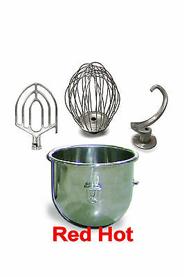 New 20 Qt. Attachment Special Bowl, Whip, Paddle, Hook Fits Hobart A200 Mixer