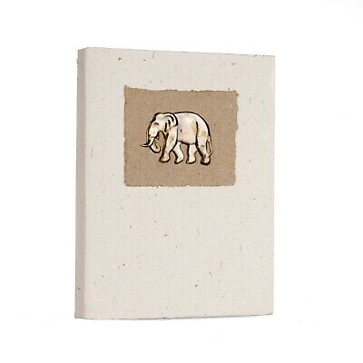Fair Trade Eco Friendly Medium Elephant Dung Notebook - Recycled paper