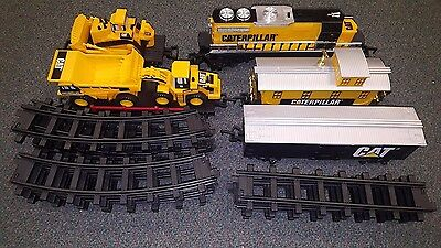 Caterpillar Tractor Battery Operated Train Set Plastic  Toy State Tested