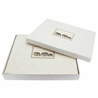 Fair Trade Eco Friendly Large Elephant Dung Paper Photo Album with gift box