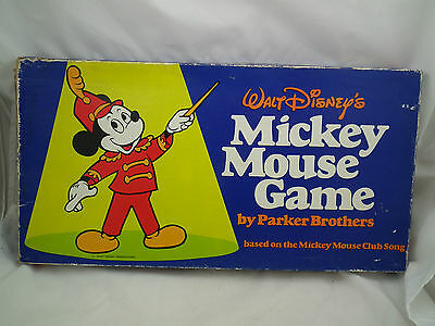 1976 Vintage MICKEY MOUSE BOARD GAME Parker Brothers Based on CLUB SONG