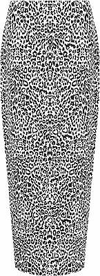 Plus Size Womens Animal Leopard Spot Print Long Stretch Ladies Maxi Skirt 14-28