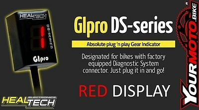 Healtech GIpro DS Plug and Play Motorcycle Digital Gear Indicator - RED DIGI