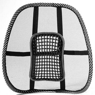 Mesh Back Lumbar Support Massage Beads For Car Seat Massage Cushion L6