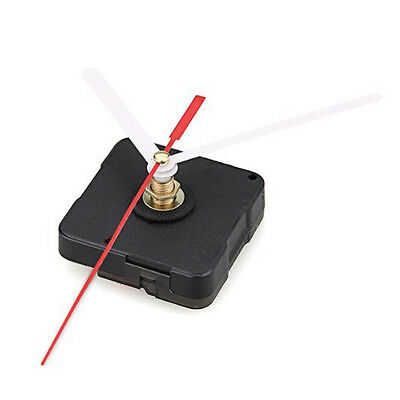 Clock Movement White Hour Minute Red Second Hand DIY Tools Kit L6