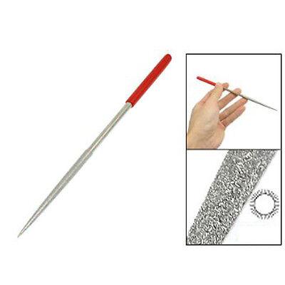 Lapidary Jeweler Rat Tail Diamond Files 5x180 mm Silver Tone Red L6