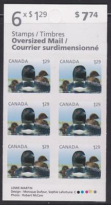 Canada 2012 BK477 Baby Wildlife Definitives Loons (booklet pane of 6)