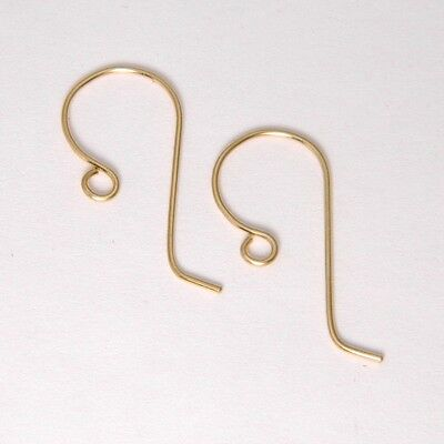 14k Yellow Gold French Ear Wires Large Size Heavy 21ga. 11.5mm x 23mm
