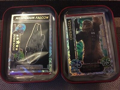 Star Wars Force Attax ~2 X Collectors Tins With 2 Limited Edition LIMITED OFFER