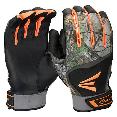 Easton HS7 Real Tree Hyperskin Adult Batting Gloves XLarge Black/RealTree 1 Pair