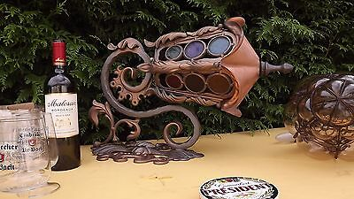 French Austrian Gothic Art Nouveau deco Stained trade sign shop Lamp Steampunk