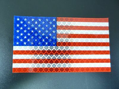 """Fwd Usa Red And Blue Flag Hv Beta Run 2Nd 3.5""""x2"""" With Velcro® Brand Fastener"""