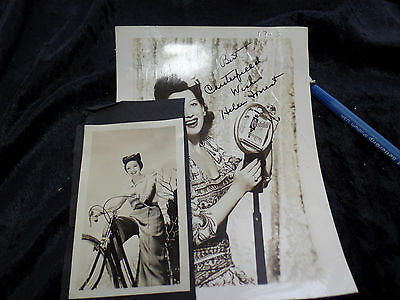 Helen Forrest Signed Chesterfield Cigarette Pin Up & Extra Photograph