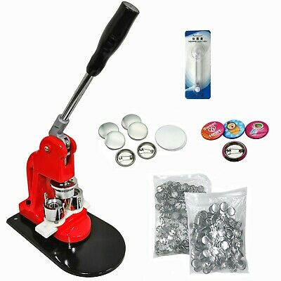 """25mm(1"""" ) Button maker - 1+ 25mm Mould + 500 pin parts + Circle cutter"""