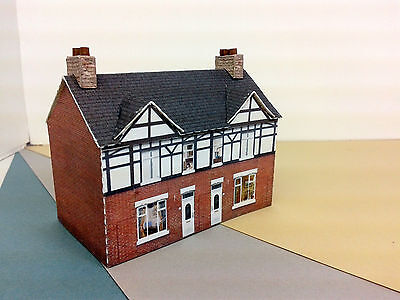 N Scale Building - Terraced House Card Stock Kit NBR2
