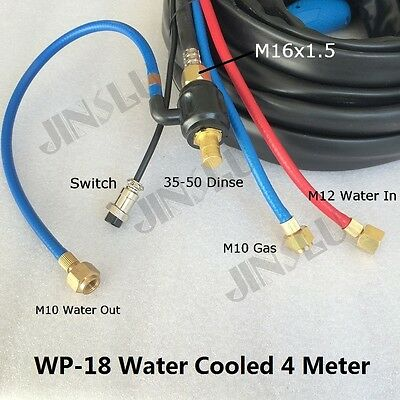 Water Cooled TIG-18 WP-18 WP 18 Series 4M  Dinse TIG Welding Torch Complete