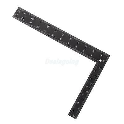 Square Stainless Steel Measure Ruler Precision Engineer Carpenter Crafts