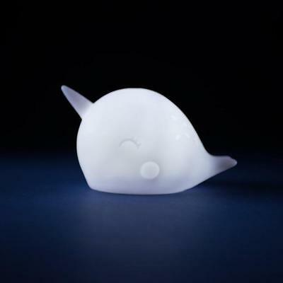 Nari Narwhal Whale Ambient LED Night Light Lamp | flash torch animal kids decor