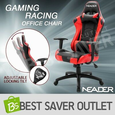 PU Leather Executive Gaming Seat Sport Racing High Back Computer Office Chair
