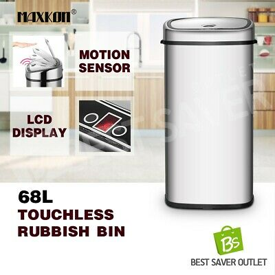 68L Kitchen Office Stainless Steel Infrared Motion Sensor Automatic Rubbish Bin
