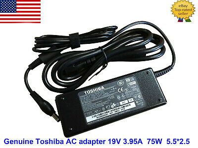 Original Toshiba AC Adapter Charger pa3715u-1aca 19V 3.95A L505D A505  with cord